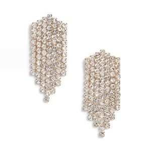 Something Navy Rhinestone Chandelier Earrings